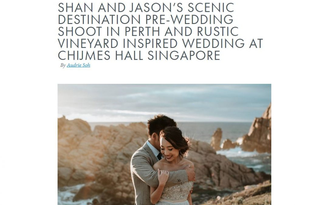 eClarity's couple, Shannon and Jason, is featured on Singapore's wedding forum!