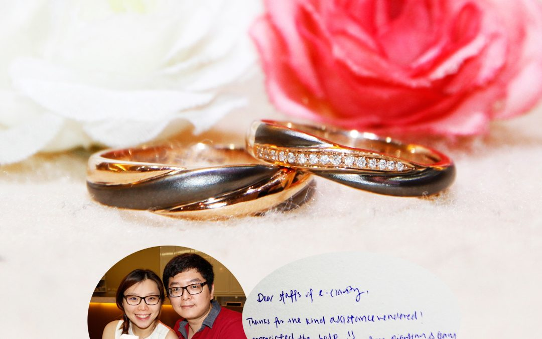 Wedding Rings Rose Gold and Black Gold