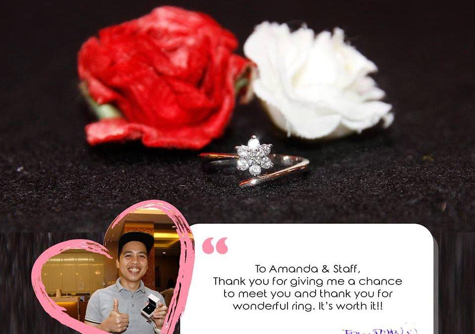 Starburst floral diamond ring