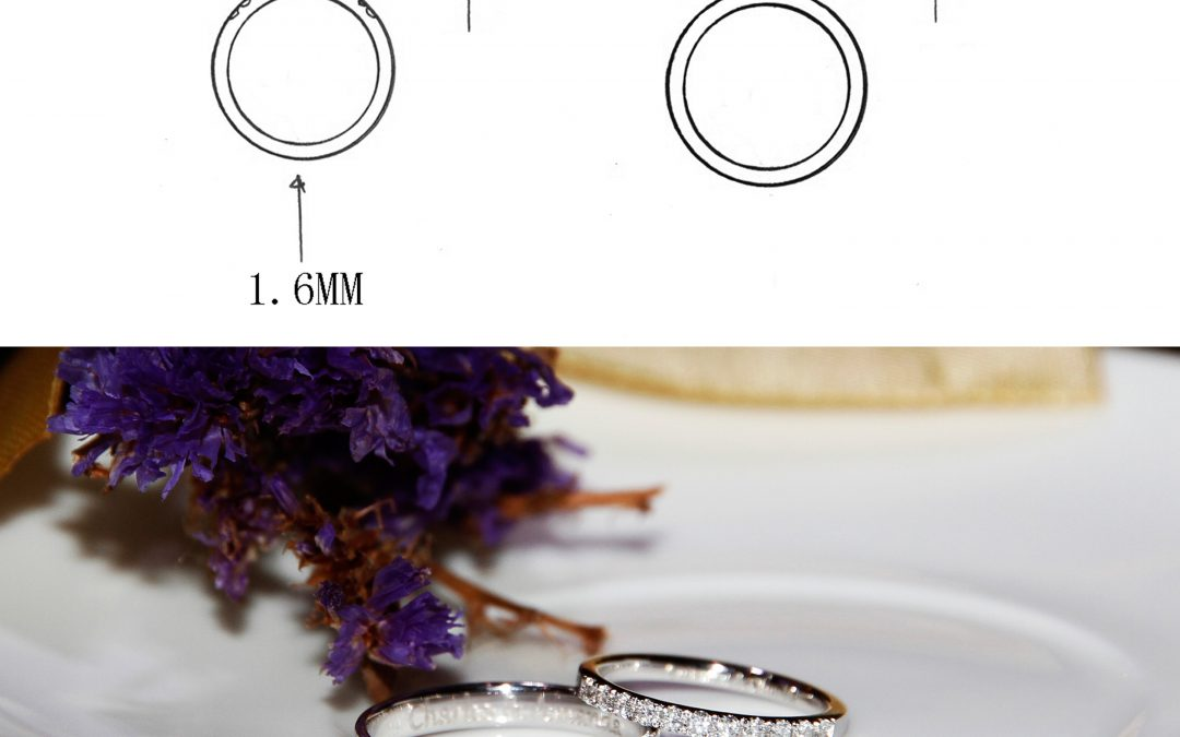 Customize a Pair of Classic and Diamonds Eternity Wedding Bands