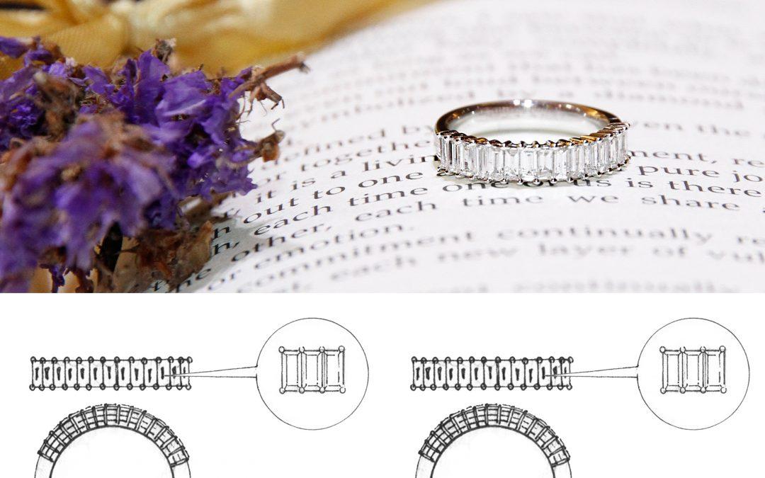 Extraordinary Bespoke Baguette Diamond Ring