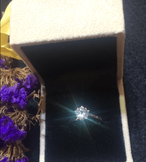 Appreciate the fire, brilliance, scintillation of a premium cut diamond (photo taken with a iPhone)
