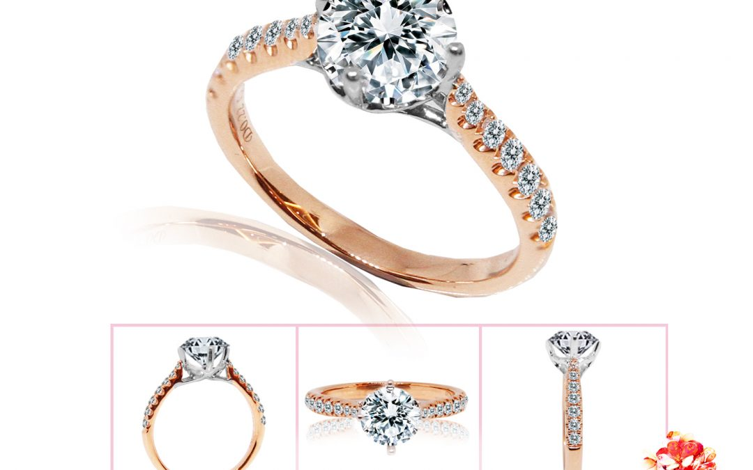 Classic Rose Gold Diamond Ring Setting