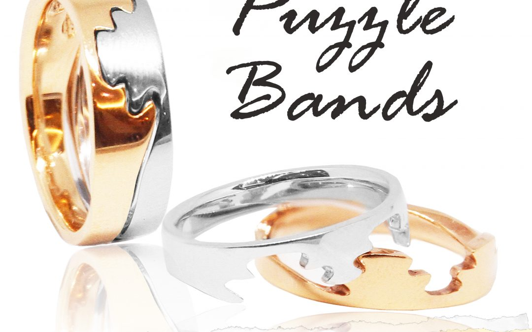 eClarity Unique Wedding Bands – Puzzle Bands