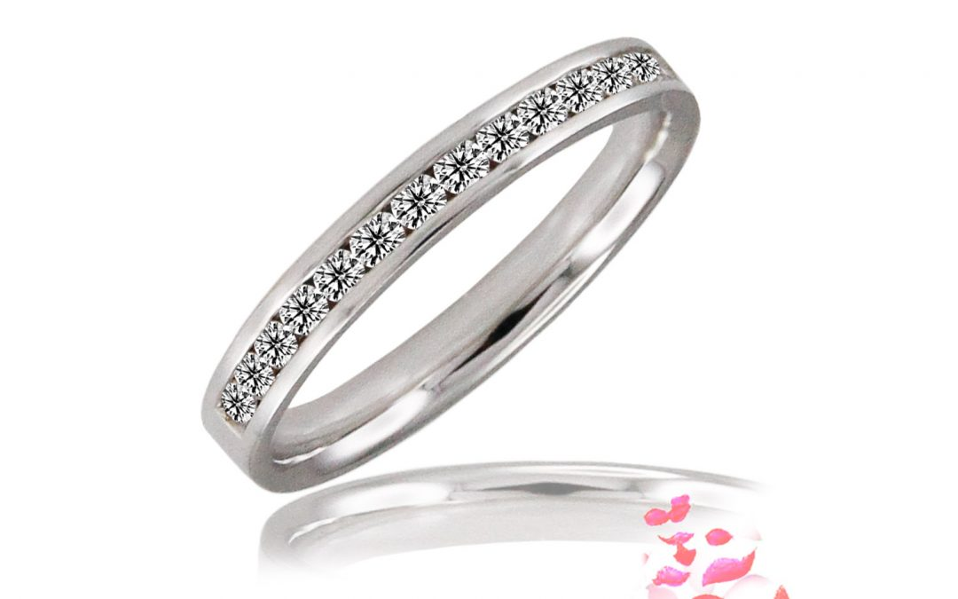 Half Circle Diamond Eternity Ring